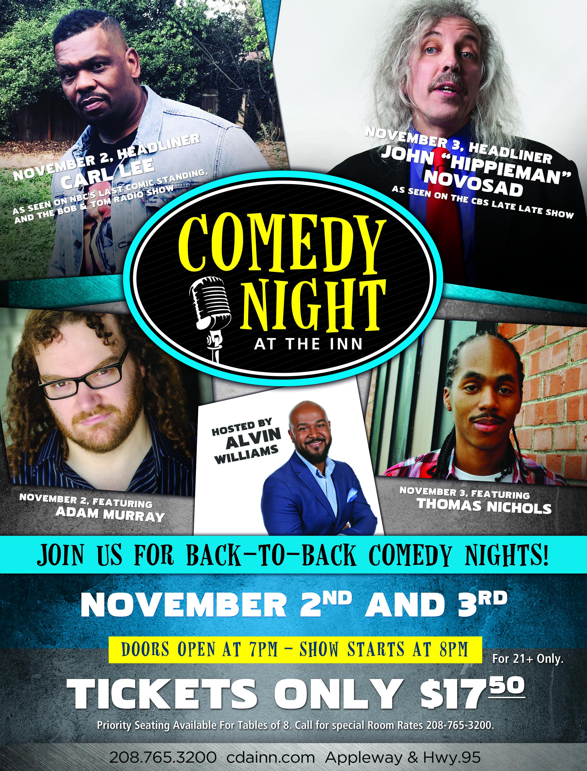 November Comedy Night Flyer